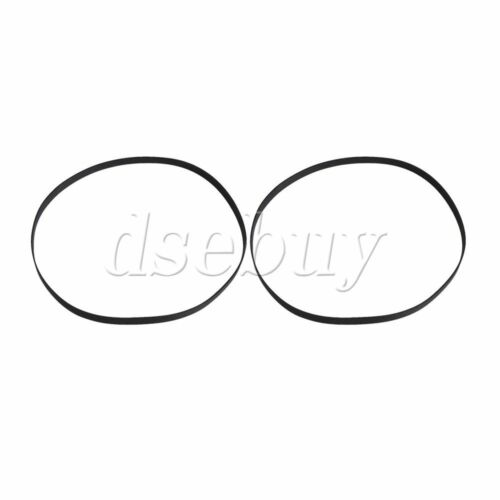 2PCS 296mm Perimeter Rubber Turntable Belt for Record Player Gramophone
