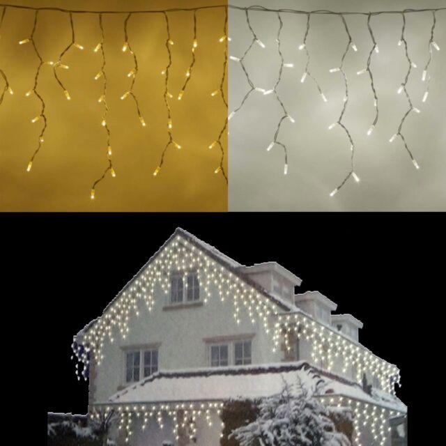 Led Weihnachtsbeleuchtung Günstig.Led Lichterkette Eisregen Eiszapfen Schneefall Snowmotion Weihnachtsbeleuchtung