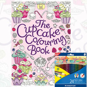 The Cupcake Colouring Book by Ann Kronheimer With Colour Pencils ...