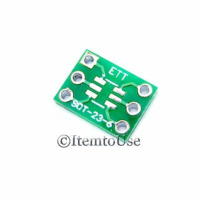 5Pcs SOT-23 6 PIN 0.95mm to DIP 6 PIN 7.62mm Pitch Adapter PCB SMD Convert SOT23