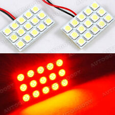2pcs Red Led Panel 15 Smd Dome Map Door Trunk Light Super Bright