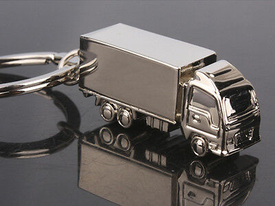 HJ037 Truck  Cute Car Creative Alloy Polished Chrome Pendant Key Bag Chain Gift
