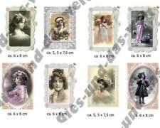 ✿ NEU Mädchen Portrait ✿ Bügelbild SHABBY Chic Nostalgie Vintage 8 Motive ✿