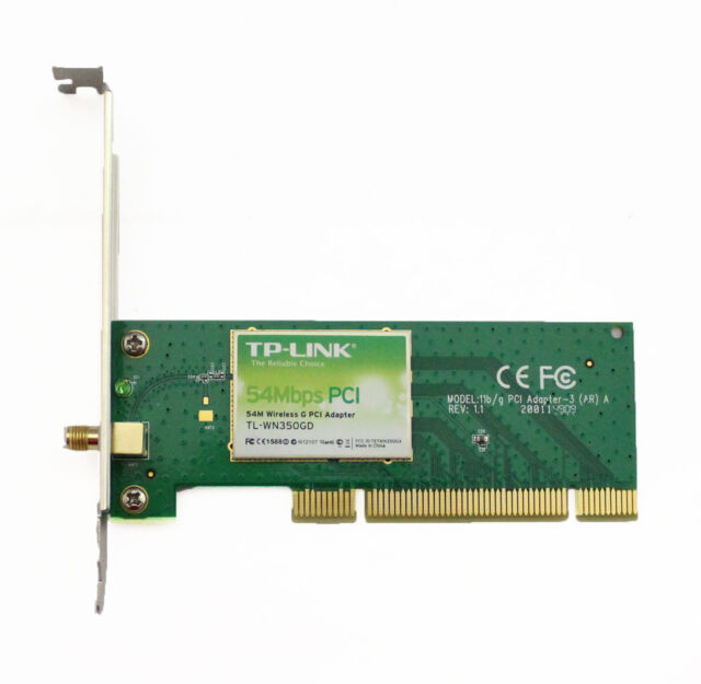 TP-LINK TL-WN350G Wireless PCI Adapter Driver Download