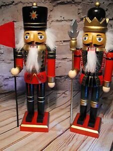 image is loading xmas soldiers table decoration christmas table decoration wooden - Christmas Decorations Wooden Soldiers
