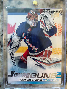 2019-20-UPPER-DECK-SP-AUTHENTIC-IGOR-SHESTERKIN-YOUNG-GUNS-528-NY-RANGERS-RC