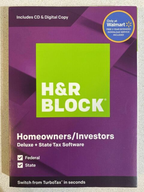 H R Block Tax Software Deluxe And State 2019 For Pc Mac 133660819 For Sale Online Ebay