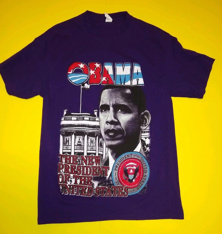 Vintage Barack Obama Graphic T hemd lila President graphic print grape Farbe