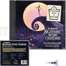 """RENATO ZERO """"NIGHTMARE BEFORE CHRISTMAS"""" RARO CD OST 1 EDIZIONE - SIGILLATO"""