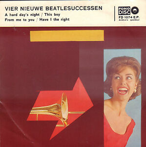 STARS-VIER-NIEUWE-BEATLESUCCESSEN-A-Hard-Days-Night-DUTCH-VINYL-EP-7-034
