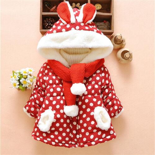 Kids Girl Warm Outerwear Infant Baby Thicken Velvet Coat For Toddler Down Jacket