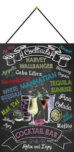 Cocktails-Cocktail-BAR-Shield-with-Cord-Metal-Tin-Sign-7-7-8x11-13-16in-FA0325-K