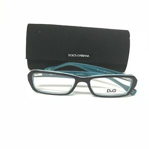 b195af6556 New 100% Authentic DOLCE   GABBANA D G 1225 1870 Black Green 52-16 ...