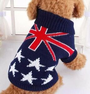 Dog Union Jack Gift Royal Party Puppy Costume Cat Clothes Australia Knit Jumper