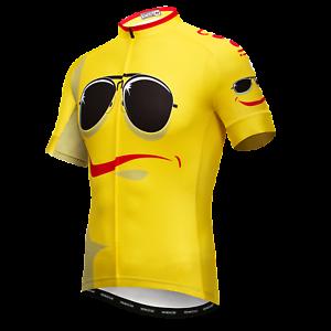 Men Yellow Cartoon Cycling Jersey Tops Bike T-Shirt Short Sleeve ... 181091039