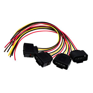 Details about 4Pcs Ignition Coil Connector Repair Harness Plug Pigtail For  VW Eos Golf AUDI A3