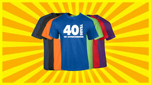Image Is Loading 40th Birthday Shirt Happy Gift Customized T