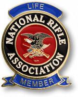 Nra Life Member Brass Range Badge. 53499.