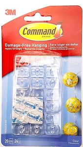 Details about 3M Command Decorating Clips Clear for Christmas Fairy Lights  Decorations Hanging