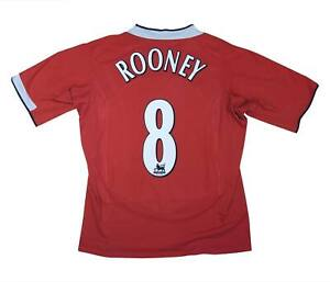 Manchester United 2004-06 Authentic Maglietta Rooney #8 (bene) L soccer jersey