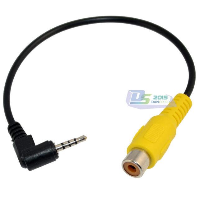 1x Gps Av In Converter 2 5mm Stereo Male To Rca Female Adapter Audio