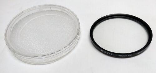 NEW Kood 72mm Star Filter Cross 6X For Camera Lenses