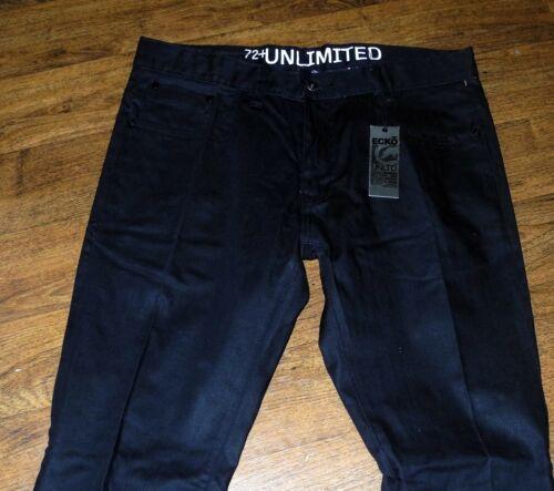 Sz 34x32 Noir Foncé Neuf Ecko Jeans Extensible Coupe Homme 711 Unltd Slim 7FS6vO