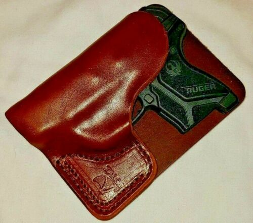 Talon Leather Wallet Holster Ruger LCP 2 LCP II Right Hand Brown w/o Laser