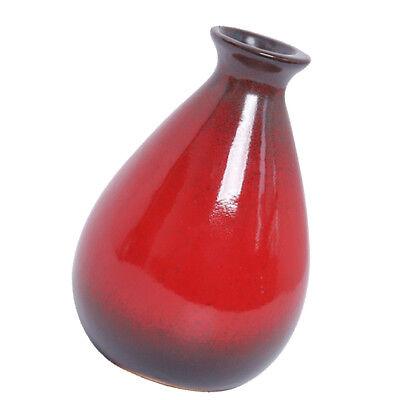 Ceramic Vase Art Vase Tabletop Japanese Meditation Flower Art Vase Red