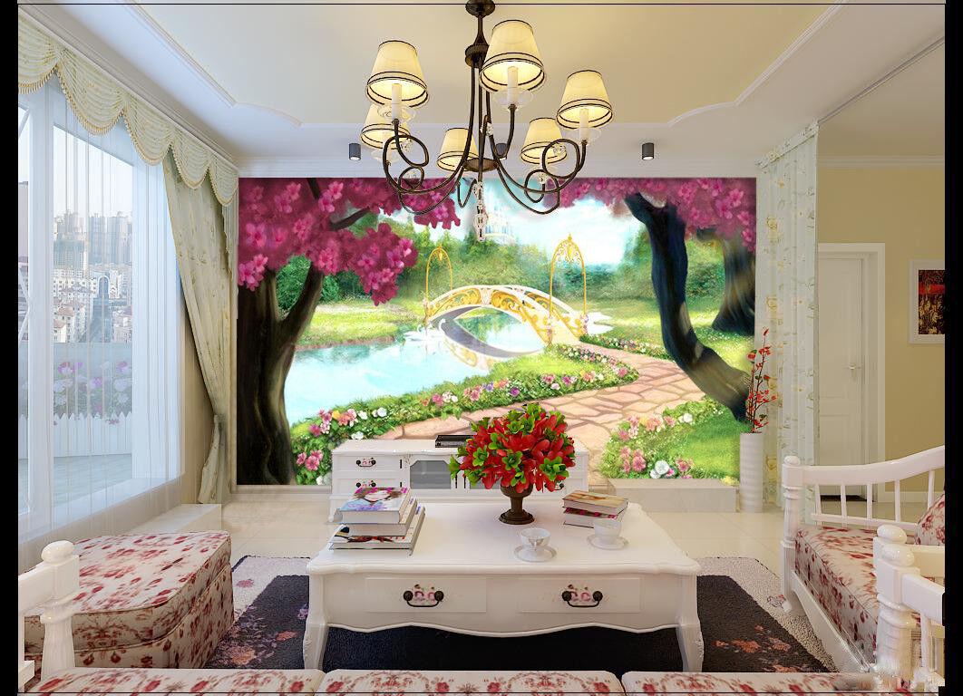 3D Forest River 7406 Wallpaper Mural Wall Print Wall Wallpaper Murals US Summer