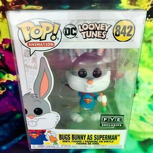 Bugs-Bunny-as-Superman-FYE-Exclusive-DC-Looney-Tunes-Funko-POP-842-Mint