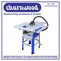 Charnwood W616 10'' Table Saw With Floorstand & Side Extensions