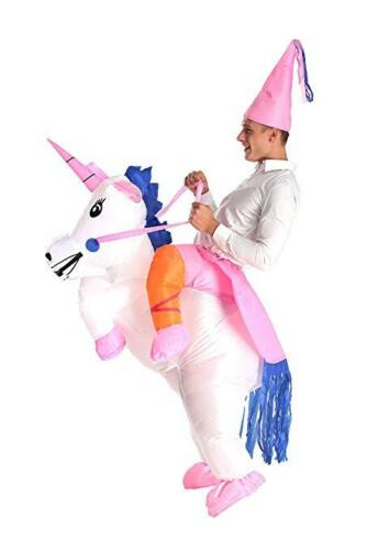 Unisex Inflatable Fancy Funny Dress Costume Unicorn Outfit Suit Hen Night Party