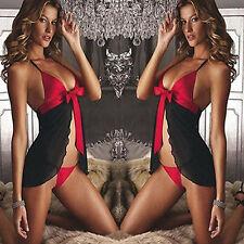 Hot Sexy Women Ladies Lingerie Mini Dress Nightwear Underwear Sleepwear+G-string