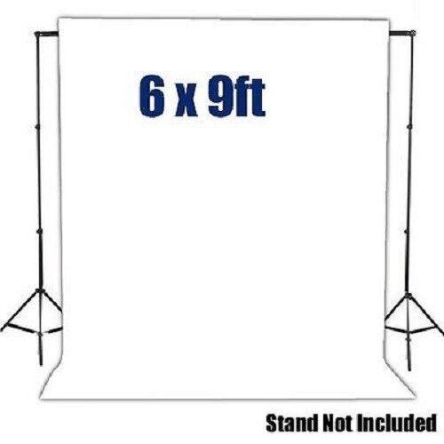 6' x 9' White Muslin Backdrop Photo Studio Photography Background 100% Cotton