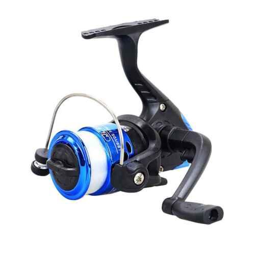 5.2:1 Electroplating Plastic Spinning Fishing Reel Bearings 3BB Spinning Wheel