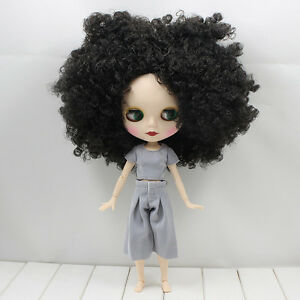 """12/"""" Takara Blythe From factory Nude Doll Nine red Long curly Hair jointed body"""