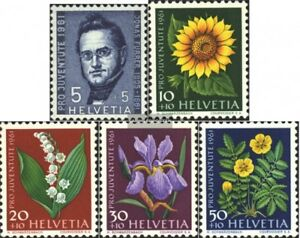 Schweiz-742-746-kompl-Ausgabe-gestempelt-1961-Pro-Juventute