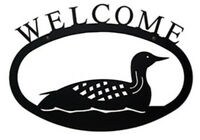 Loon Welcome Sign Lg By Village Wrought Iron Wel-116-l