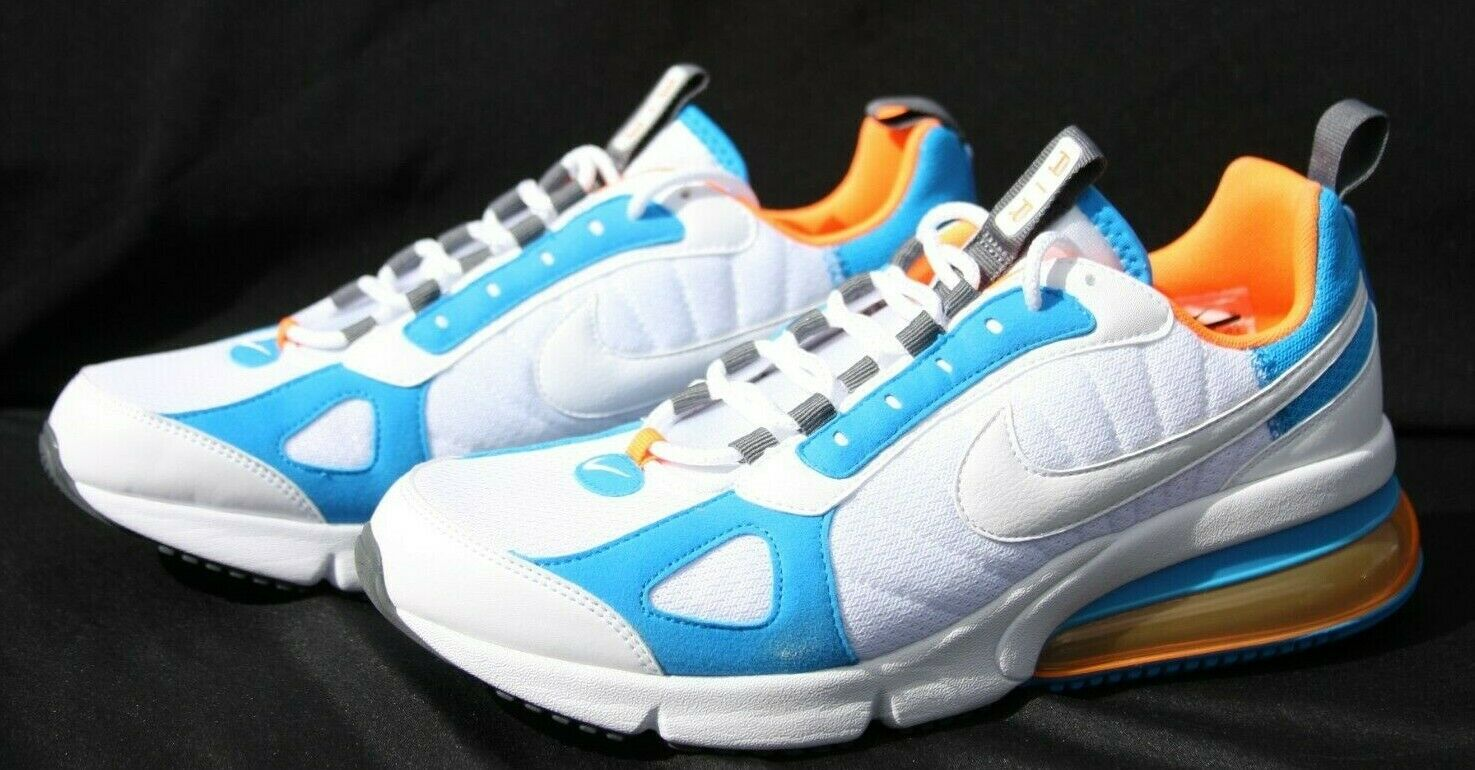 Nike Air Max 270 Futura Casual shoes White orange Mens Size 9.5 (AO1569-100)