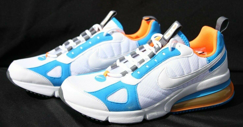 Nike Air Max 270 Futura Casual shoes White orange Mens Size 9.5 (AO1569-100)