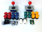 ARCADE JOYSTICK x 2 + 16 BUTTONS + USB INTERFACE FOR BARTOP MACHINE