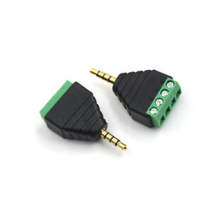 Video-AV-3-5mm-4-Pin-Male-to-AV-Screw-Terminal-Stereo-Jack-Block-Plug-Conne