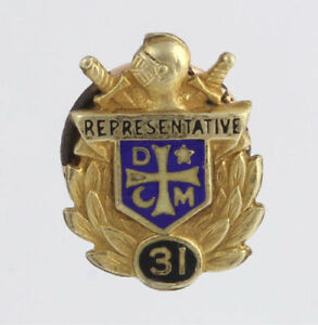 Demolay-Representativa-31-Vintage-Pin-de-Solapa-Oro-Lleno-Masonico-Masons