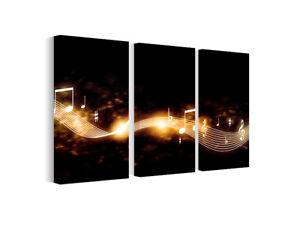 Details zu Bild Leinwand Bilder Musik Linie, Wandbilder fürs Wohnzimmer  B3D178