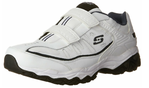 Skechers Shoes Men Memory Foam Sports Casual Sneaker 50125 EWW 4E WIDE WHITE Comfortable and good-looking