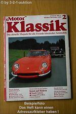 Motor Klassik 2/84 Bugatti Atalante Ferrari 275 GTB/4