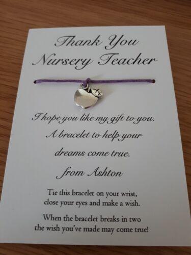 Profesor gracias Charm /& deseo Cadena