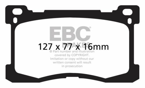 DP41882R EBC Yellowstuff Front Brake Pads fit HYUNDAI Equus