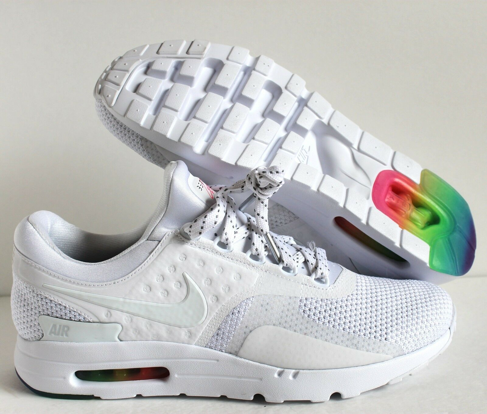 NIKE AIR MAX ZERO QS  BE TRUE  WHITE-WHITE-PURE PLATINUM SZ 15 [789695-101]